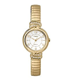 Timex® Women's Anna Avenue Goldtone Stainless Steel Expansion Band Watch