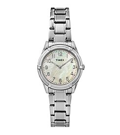 Timex® Women's Easton Avenue Silvertone Stainless Steel Bracelet Watch