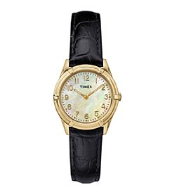 Timex® Women's Easton Avenue Black Leather Watch