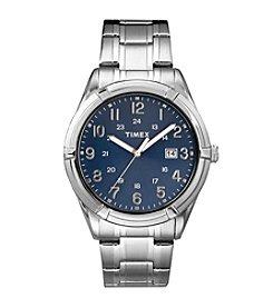 Timex® Men's Easton Avenue Silvertone Stainless Steel Bracelet Watch