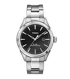 Timex® Men's Silvertone Stainless Steel Bracelet Watch