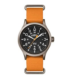 Timex® Men's Expedition Scout Orange Nylon Slip-Thru Strap Watch