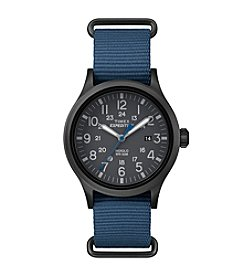 Timex® Men's Expedition Scout Blue Nylon Slip-Thru Strap Watch