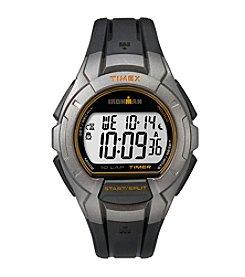 Timex® Men's Ironman Essential 10 Silvertone/Black Resin Strap Watch