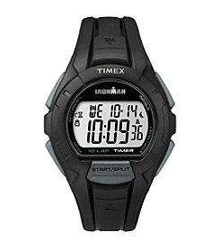 Timex® Men's Ironman Essential 10 Black Resin Strap Watch