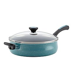 Paula Deen® Riverbend 5-qt. Gulf Blue Speckle Jumbo Cooker with Helper Handle