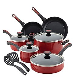 Paula Deen® Riverbend 12-pc. Red Speckle Aluminum Nonstick Cookware Set