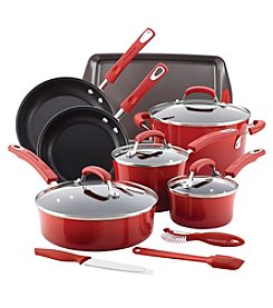 Rachael Ray® Red 14-pc. Hard Enamel Nonstick Cookware Set