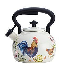 Paula Deen® Signature Garden Rooster 2-qt. Enamel on Steel Teakettle