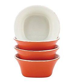 Rachael Ray® Stoneware Orange Round & Square 4-pc. Fruit Bowl Set