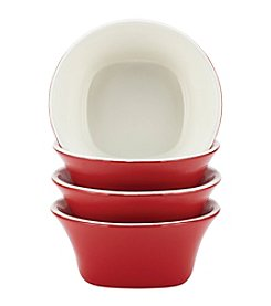 Rachael Ray® Stoneware Red Round & Square 4-pc. Fruit Bowl Set