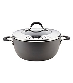 Circulon® Momentum® Hard-Anodized Nonstick 5.5-qt. Covered Casserole with Lock 'n' Strain Lid