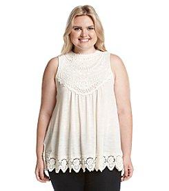 Skylar & Jade™ Plus Size Crochet Neck Tank