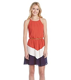 A. Byer Colorblock Short Dress