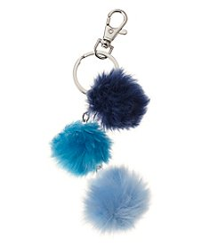 Relativity® Silvertone Multi Pom-Pom Key Ring