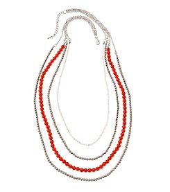 accessory PLAYS™ NCAA University Of Wisconsin Four Row Bead Chain Necklace