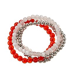 accessory PLAYS™ NCAA University Of Wisconsin Five Row Stretch Bracelet