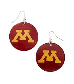 accessory PLAYS™ NCAA University Of Minnesota Round Shell Drop Earrings