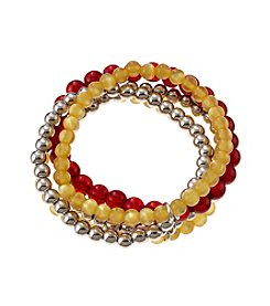 accessory PLAYS™ NCAA Iowa State Five Row Stretch Bracelet