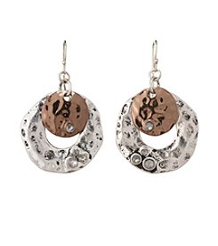 Studio Works® Tri-Tone Round Drop Earrings
