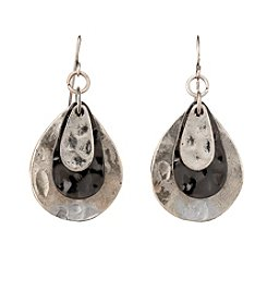 Studio Works® Two-Tone Multi Teardrop Metal Earrings