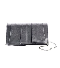 La Regale® Metallic Soft Pleated Clutch