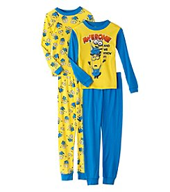 Universal® Boys' 4-10 4-Piece Awesome And We Know It! Minons Pajama Set