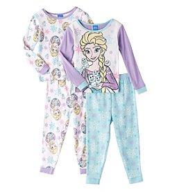 Disney® Girls' 2T-4T 4-Piece Elsa Loves Snowgies Pajama Set