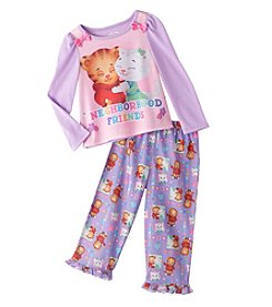 Komar Kids® Girls' 2T-4T 2-Piece Neighborhood Friends Pajama Set