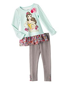 Disney Princess® Girls' 4-6X Long Sleeve Belle Dare To Dream Tunic And Leggings Set