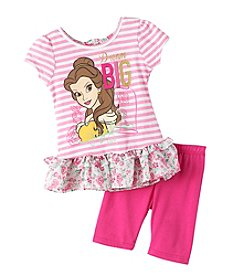Disney Princess® Girls' 4-6X Short Sleeve Dream Big Tee And Shorts Set