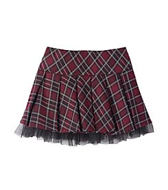 Beautees Girls' 7-16 Plaid Pleated Scooter Skirt