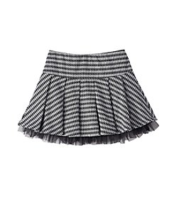 Beautees Girls' 7-16 Houndstooth Pleated Scooter