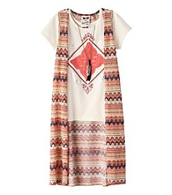 Belle du Jour Girls' 7-16 Love Tee And Zigzag Duster