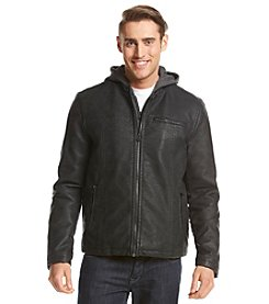 Levi's® Men's Faux Leather Hooded Racer Jacket