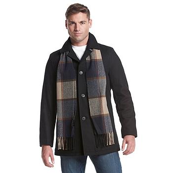 Tommy Hilfiger Wool Melton Walking Mens Coat