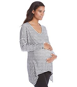 Three Seasons Maternity™ Sharkbite Stripe Top