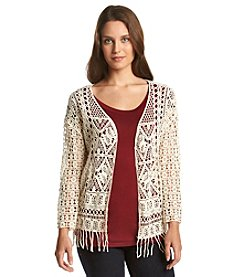 Fever™ Crochet Cardigan