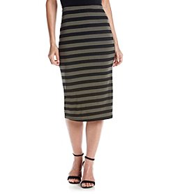 Bobeau® Stripe Pencil Skirt