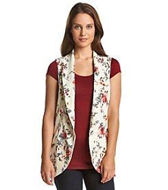 Black Rainn™ Open Floral Vest