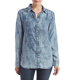 Chelsea & Theodore® Bleached Denim Top