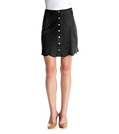 Chelsea & Theodore® Faux Suede Button Up Skirt