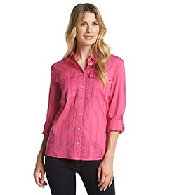Nine West Jeans® Textured Button Front Top
