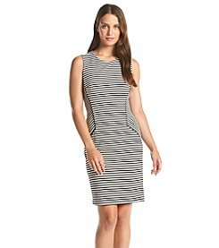 Calvin Klein Textured Stripe Knit Dress