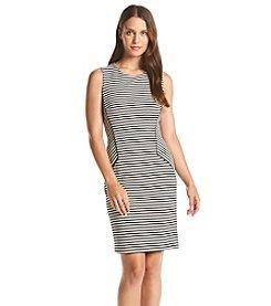 Calvin Klein Textured Stripe Knit Dress