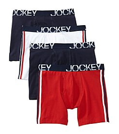 Jockey® Men's 3 Pack + 1 Bonus Active Stretch Midway Briefs