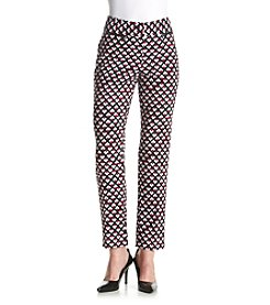 Nine West® Printed Twill Pants