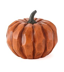 LivingQuarters Large Resin Pumpkin