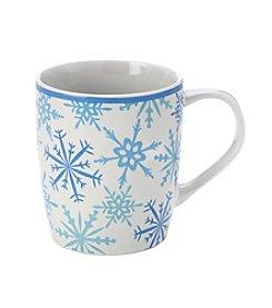 LivingQuarters Snowflake Mug