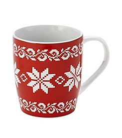 LivingQuarters Fairisle Mug